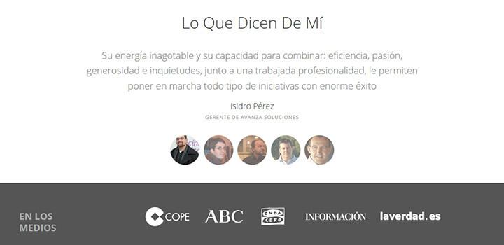testimonial web
