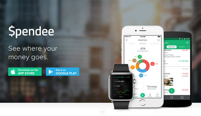 landing page spendee