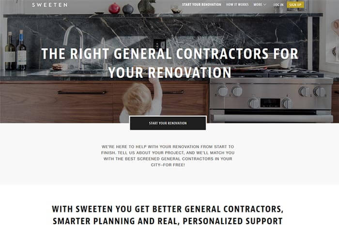 landing page sweteen